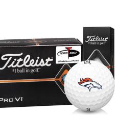 Titleist Pro V1 Half Dozen Denver Broncos Golf Balls - 6 Pack