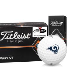 Titleist Pro V1 Half Dozen Los Angeles Rams Golf Balls - 6 Pack
