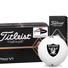 Titleist Pro V1 Half Dozen Oakland Raiders Golf Balls - 6 Pack