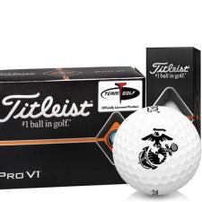 Titleist Pro V1 Half Dozen US Marine Corps Golf Balls - 6 Pack