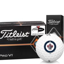 Titleist Pro V1 Half Dozen Winnipeg Jets Golf Balls - 6 Pack
