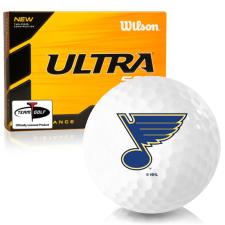 Wilson Ultra 500 Distance St. Louis Blues Golf Balls