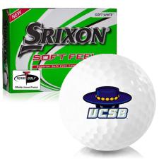 Srixon Soft Feel 12 Cal Santa Barbara Gauchos Golf Balls