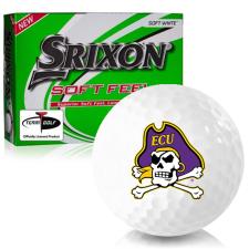 Srixon Soft Feel 12 East Carolina Pirates Golf Balls