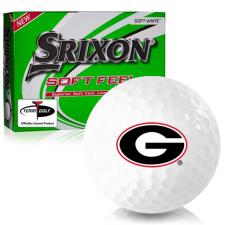 Srixon Soft Feel 12 Georgia Bulldogs Golf Balls