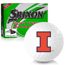 Srixon Soft Feel 12 Illinois Fighting Illini Golf Balls
