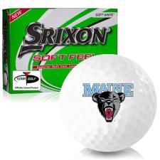 Srixon Soft Feel 12 Maine Black Bears Golf Balls