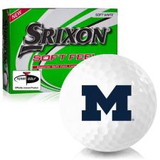 Srixon Soft Feel 12 Michigan Wolverines Golf Balls