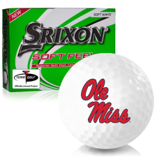 Srixon Soft Feel 12 Ole Miss Rebels Golf Balls