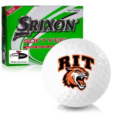 Srixon Soft Feel 12 RIT - Rochester Institute of Technology Tigers Golf Balls