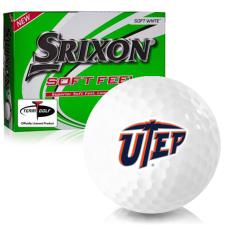 Srixon Soft Feel 12 Texas El Paso Miners Golf Balls