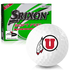 Srixon Soft Feel 12 Utah Utes Golf Balls
