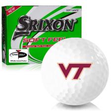Srixon Soft Feel 12 Virginia Tech Hokies Golf Balls