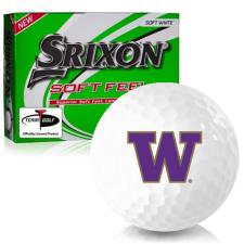Srixon Soft Feel 12 Washington Huskies Golf Balls
