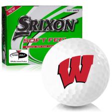 Srixon Soft Feel 12 Wisconsin Badgers Golf Balls