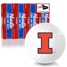 Taylor Made Noodle Long and Soft Illinois Fighting Illini Golf Balls