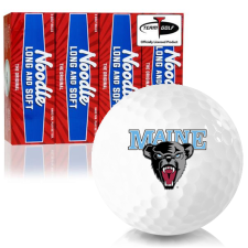 Taylor Made Noodle Long and Soft Maine Black Bears Golf Balls