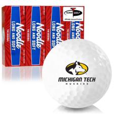 Taylor Made Noodle Long and Soft Michigan Tech Huskies Golf Balls