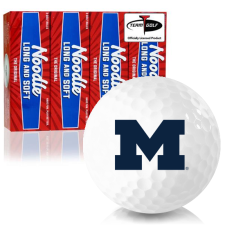Taylor Made Noodle Long and Soft Michigan Wolverines Golf Balls