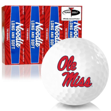 Taylor Made Noodle Long and Soft Ole Miss Rebels Golf Balls