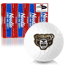 Taylor Made Noodle Long and Soft Oakland Golden Grizzlies Golf Balls