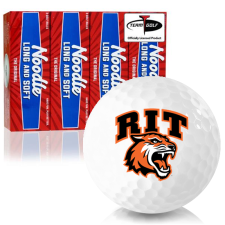 Taylor Made Noodle Long and Soft RIT - Rochester Institute of Technology Tigers Golf Balls