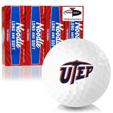 Taylor Made Noodle Long and Soft Texas El Paso Miners Golf Balls