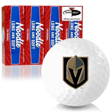 Taylor Made Noodle Long and Soft Vegas Golden Knights Golf Balls