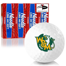 Taylor Made Noodle Long and Soft William & Mary Tribe Golf Balls