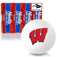 Taylor Made Noodle Long and Soft Wisconsin Badgers Golf Balls