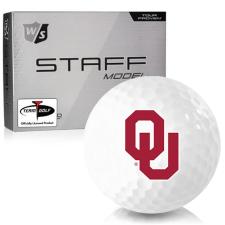 Wilson Staff Staff Model Oklahoma Sooners Golf Balls