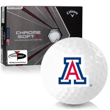 Callaway Golf Chrome Soft X Triple Track Arizona Wildcats Golf Balls