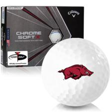 Callaway Golf Chrome Soft X Triple Track Arkansas Razorbacks Golf Balls