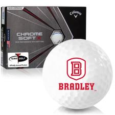 Callaway Golf Chrome Soft X Triple Track Bradley Braves Golf Balls