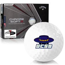 Callaway Golf Chrome Soft X Triple Track Cal Santa Barbara Gauchos Golf Balls