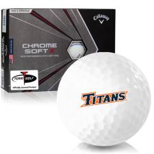 Callaway Golf Chrome Soft X Triple Track Cal State Fullerton Titans Golf Balls