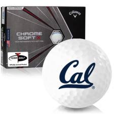 Callaway Golf Chrome Soft X Triple Track California Golden Bears Golf Balls