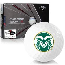 Callaway Golf Chrome Soft X Triple Track Colorado State Rams Golf Balls