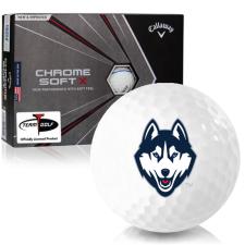 Callaway Golf Chrome Soft X Triple Track UConn Huskies Golf Balls