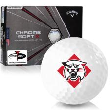 Callaway Golf Chrome Soft X Triple Track Davidson Wildcats Golf Balls