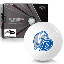 Callaway Golf Chrome Soft X Triple Track Drake Bulldogs Golf Balls