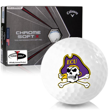 Callaway Golf Chrome Soft X Triple Track East Carolina Pirates Golf Balls