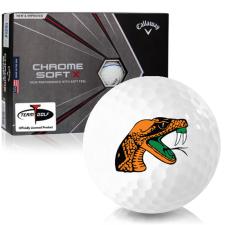 Callaway Golf Chrome Soft X Triple Track Florida A&M Rattlers Golf Balls