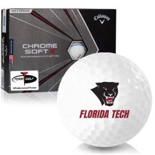 Callaway Golf Chrome Soft X Triple Track Florida Tech Panthers Golf Balls