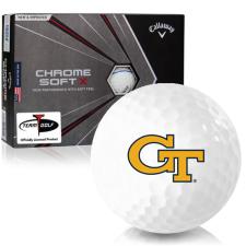 Callaway Golf Chrome Soft X Triple Track Georgia Tech Golf Balls
