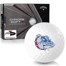 Callaway Golf Chrome Soft X Triple Track Gonzaga Bulldogs Golf Balls