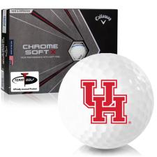 Callaway Golf Chrome Soft X Triple Track Houston Cougars Golf Balls