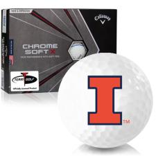 Callaway Golf Chrome Soft X Triple Track Illinois Fighting Illini Golf Balls