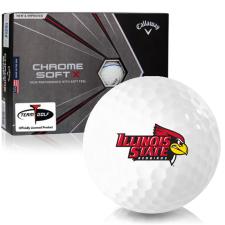 Callaway Golf Chrome Soft X Triple Track Illinois State Redbirds Golf Balls