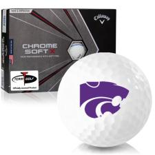 Callaway Golf Chrome Soft X Triple Track Kansas State Wildcats Golf Balls